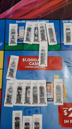 Rare Monopoly game tickets for Sale in Kenmore, WA