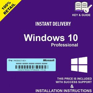 Instant Delivery Microsoft Windows 10 Pro Professional Activation Key Permanent License for Sale in New York, NY