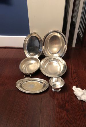"""Castle & Rogers Silverplated One Oval 9"""" Two oval 10"""" and 2 Oval 11"""" and Small bowl for Sale in Kensington, MD"""