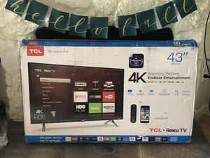 TCL 4K 43in Roku TV for Sale in Issaquah, WA