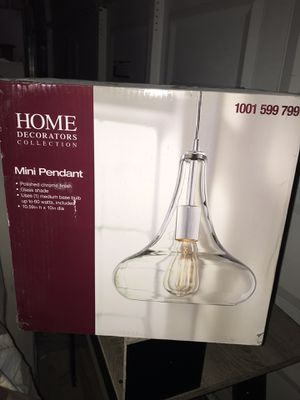 Pendant light- Polished Chrome for Sale in San Diego, CA