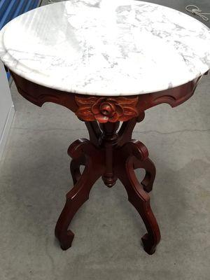 Genuine Mahogany tables with Italian marble tops for Sale in Roanoke, VA