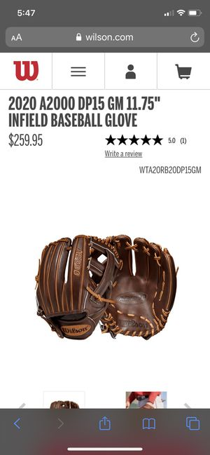 Wilson A2000 baseball glove for Sale in Los Angeles, CA