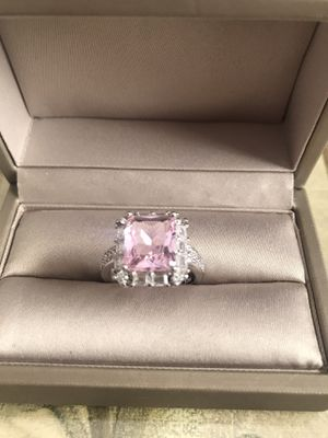 925 Stamped Sterling Silver Pink Natural Topaz Ring Size 7 for Sale in Franklin Park, IL