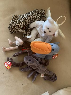 Rare beanie babies new condition with tags for Sale in San Antonio, TX
