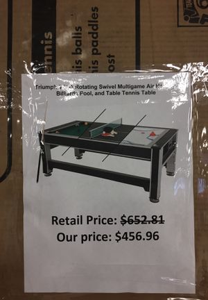 Triumph 3 in 1 swivel multi game: air hockey, pool , table tennis for Sale in San Lorenzo, CA