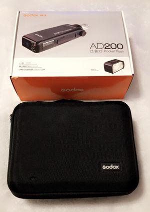 Godox AD200 Pocket Flash for Sale in Arlington, TX