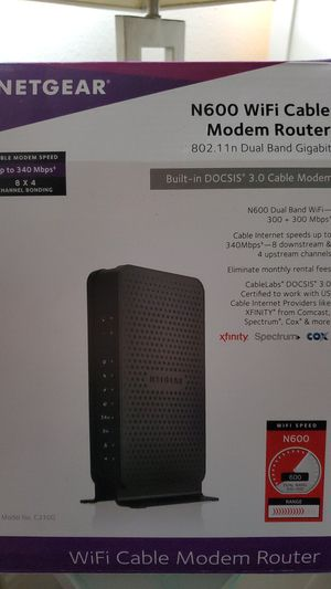 Netgear wifi cable modem router n600 for Sale in Spring Valley, CA