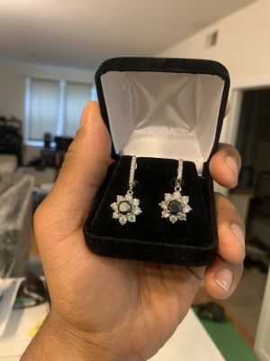 14K Gold Fancy Color Diamond & Diamond Earrings for Sale in Vienna, VA