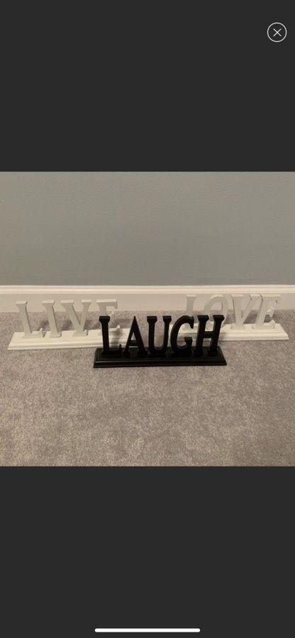Live*Laugh*Love home decor