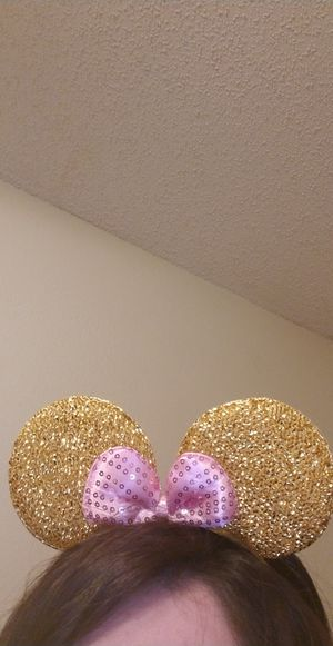 Minnie Mouse Gold & Pink Ears for Kids & Adults for Sale in Riverside, CA