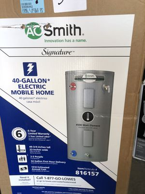 O. Smith Signature 40 gallons Electric Mobile Home for Sale in Orlando, FL