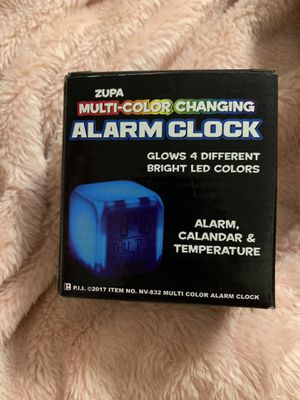 Multi Color Changing Alarm Clock for Sale in Decatur, GA