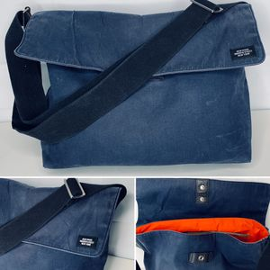 Jack Spade Waxed Canvas Indigo Messenger Bag , Early Warren Street Design for Sale in Portland, OR