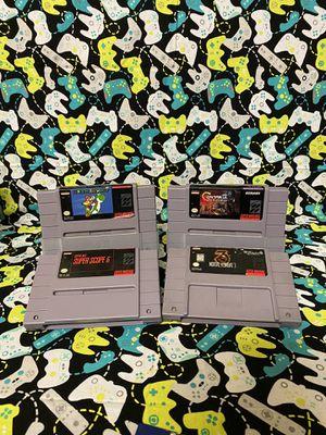 Super Nintendo 4 game bundle for Sale in Princeton, FL