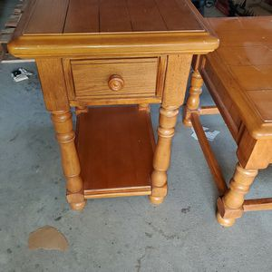 Oak Coffee Table & End Table for Sale in Dinuba, CA