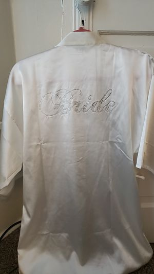 Silk rhinstone bride cover up robe for Sale in San Diego, CA