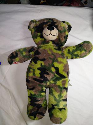 Build A Bear Camo Teddy Bear for Sale in Salt Lake City, UT