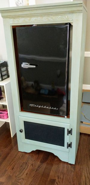Vintage solid Maple cabinet AND fridge combo! for Sale in Manassas, VA