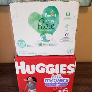 Huggies Diapers Size 6 & Pampers Baby Wipes for Sale in Bonita, CA