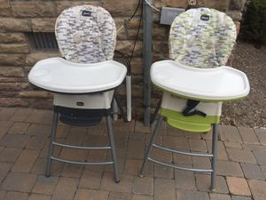 FREE (2) Chicco Convertible High Chairs for Sale in Staten Island, NY