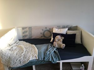 White wooden day bed frame for Sale in Washington, DC