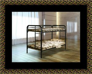 Twin bunk bed frames with mattress for Sale in Mount Rainier, MD