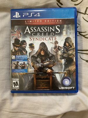 Assassin's Creed Syndicate PS4 limited edition for Sale in Glendale, CA