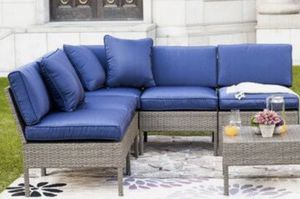Blue one piece classic patio furniture brand new for Sale in Orlando, FL