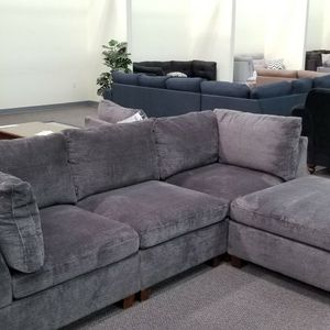 🟢🟢Poundex-3pcs Grey Chenille fabric Sectional- Brandnew!! Same day delivery available!! for Sale in Phoenix, AZ