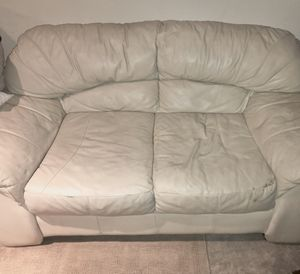 Leather couch and love seat for Sale in Paterson, NJ