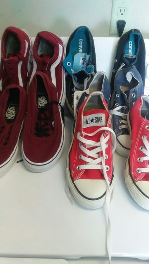 Lot of Shoes, Vans/Converse, Various Sizes for Sale in Los Angeles, CA