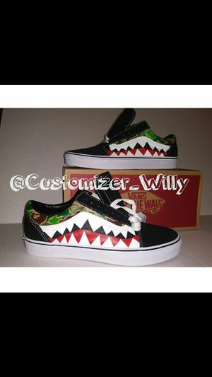 Custom bape vans for Sale in Hyattsville, MD