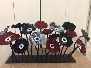 """Still available one stunning bouquet of glass flowers centerpiece 16x24"""" pick up Gaithersburg md20877 for Sale in Rockville, MD"""