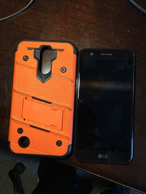 Lg k20 v phone and hard case with stand 6 months old for Sale in Waynesboro, VA
