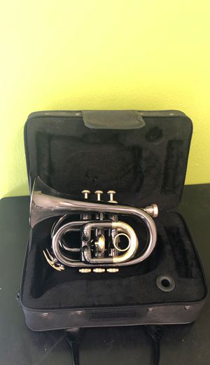 Allora Pocket Trumpet with Case and Stand for Sale in Los Angeles, CA