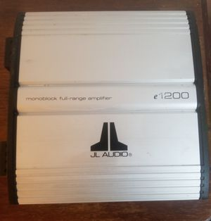 JL Audio e1200 amp for Sale in Detroit, MI