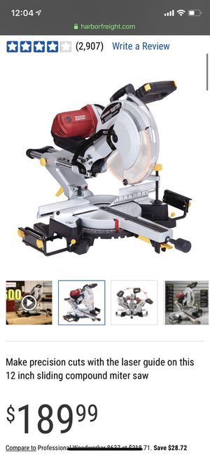 12 In. Dual-Bevel Sliding Compound Miter Saw for Sale in Henderson, NV