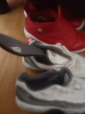 Nike air max jordan nike boots and red nikes 100 for all three 9n half for Sale in Columbus, OH
