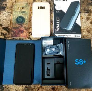 Samsung Galaxy S8+ Plus Black UNLOCKED for Sale in Lynnwood, WA