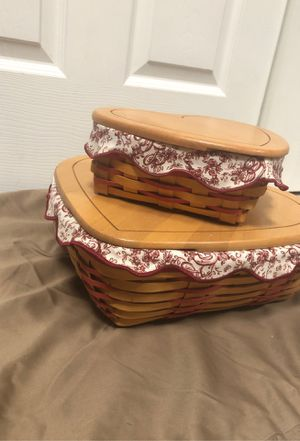 1999 Sweetheart set Longaberger for Sale in Providence, KY