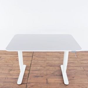 Intertek Contemporary Laminate and White Metal Standing Desk (1022330) for Sale in South San Francisco, CA