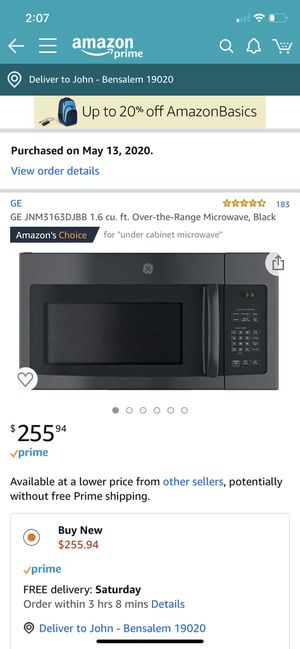 GE Range Microwave for Sale in Levittown, PA