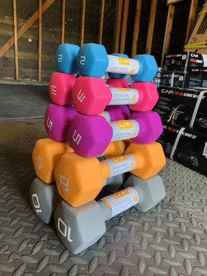 All Brand New🎁 Set if CAP 10, 8, 5, 3, and 2 lbs Dumbbells 💪🏼 for Sale in Stockton, CA