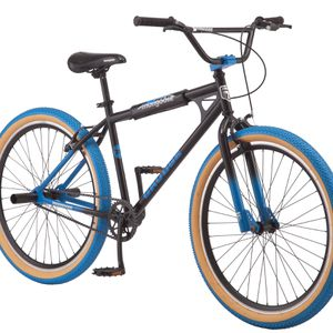 Mongoose Grudge BMX Freestyle bike Single Speed 26 Inch Wheels Mens Black Blue for Sale in Torrance, CA