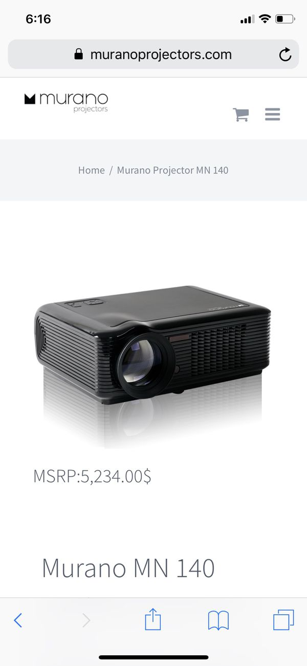 Smart projector, Denali surround system, projector screen for sale!