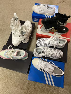 Nike and adidas sneakers for sale for Sale in Fairburn, GA