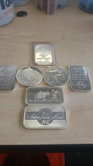 Mixed Lot of (7) Seven One Ounce Rounds .999 Fine Silver NPC for Sale in Phoenix, AZ
