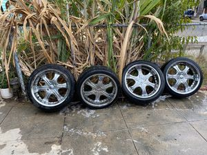 tiers with rims for Sale in Los Angeles, CA