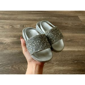 Silver sandals (slides) for Sale in Fort Campbell, TN